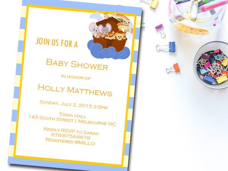 Noah\'s Ark Baby Shower Games - Magical Printable