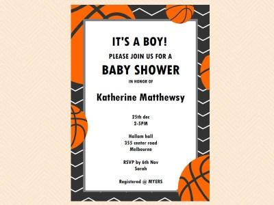 editable basketball baby shower invitation magical printable