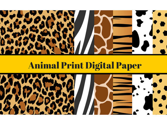 A4 animal digital paper animal print digital paper for Themed printer paper
