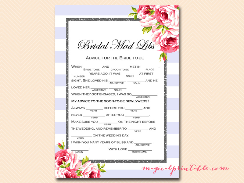 Purple Bridal Shower Game Pack - Lavender Bridal Shower
