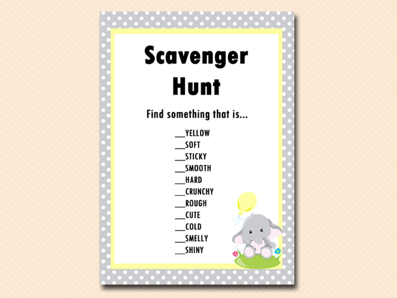 gray and yellow elephant party games   magical printable