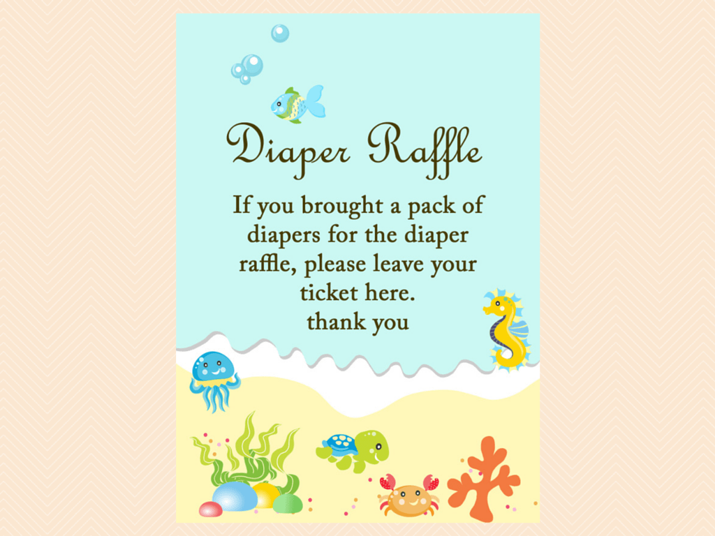under the sea baby shower game package magical printable diaper raffle sign beach sea under the sea baby shower game