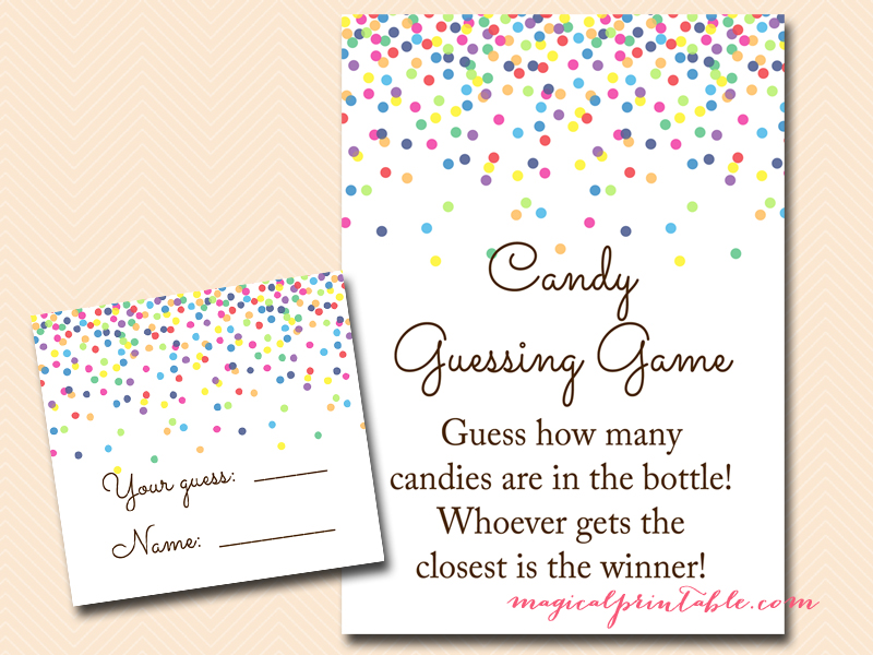 baby sprinkle games confetti baby shower games magical printable. Black Bedroom Furniture Sets. Home Design Ideas