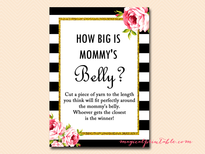 This is a picture of Bewitching How Big is Mommy's Belly Printable