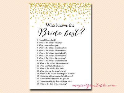 who knows the bride best