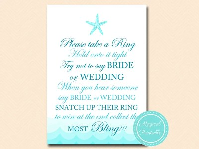 don't say wedding or bride, take a ring
