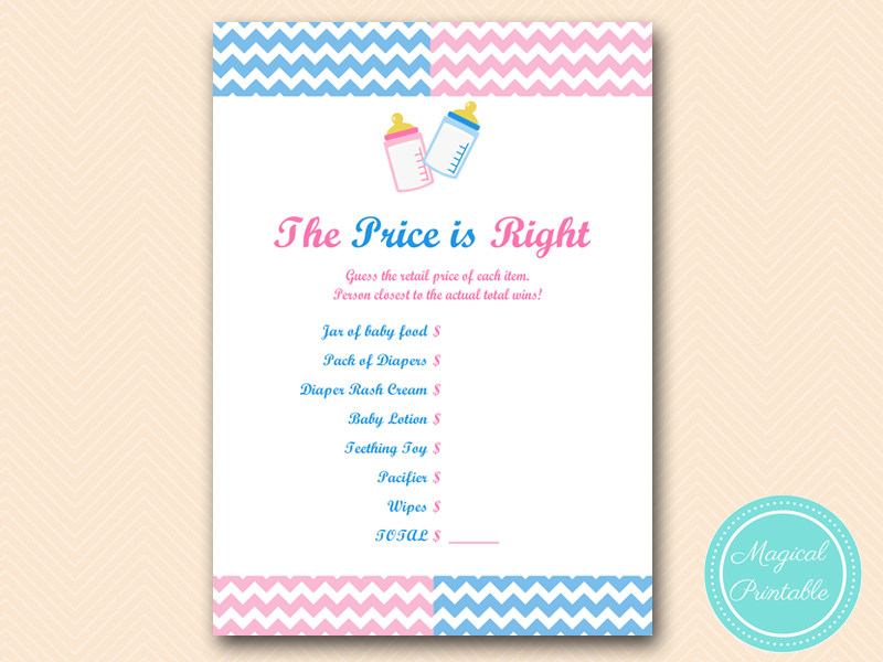 Gender Reveal Party Games Magical Printable