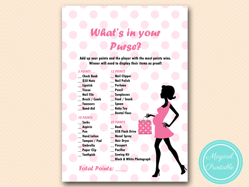 pink dots baby shower games magical printable
