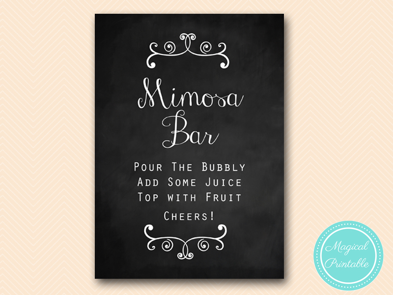 Chalkboard Decoration Sign Magical Printable