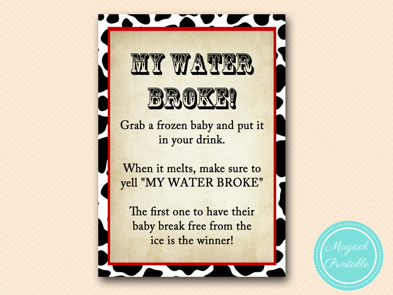 MY WATER BROKE