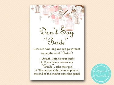 dont-say-bride game