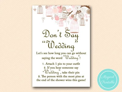 dont-say-wedding game