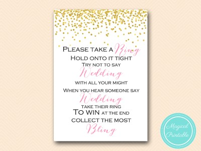 dont-say-wedding-pink-5x7 bridal shower game