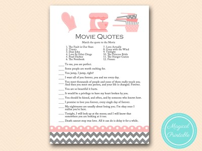 movie love quote games bridal shower game