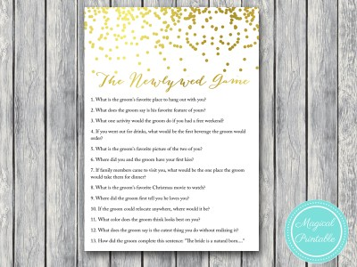 newlywed-game bridal shower