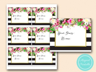BS176-how-many-kisses-cards-pink-floral-bridal-shower-games