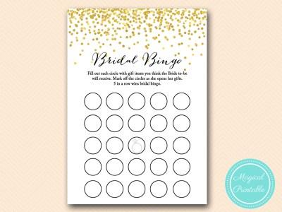 bridal bingo cards bs46