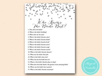 who-knows-bride-best Silver Foil Confetti Bridal Shower Game