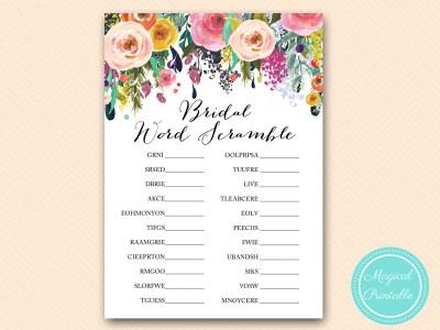BS138-scramble floral bridal shower game