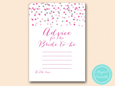 BS179-advice-for-bride-Pink-silver-confetti-bridal-shower-games