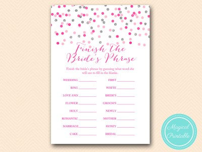 BS179-finish-the-brides-phrase-Pink-silver-confetti-bridal-shower-games