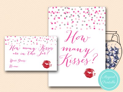 BS179-how-many-kisses-in-jar-card-Pink-silver-confetti-bridal-shower-games