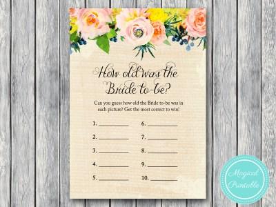 BS183-how-old-was-bride-rustic-burlap-floral-bridal-shower-games