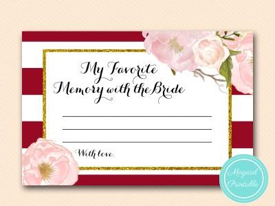 BS403-favorite-memory-with-bride-card-marsala-burgundy-bridal-shower-game-printable