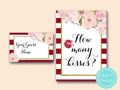 BS403-how-many-kisses-sign-marsala-burgundy-bridal-shower-game-printable