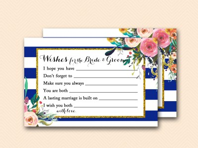 BS404-wishes-for-bride-and-groom-navy-blue-bridal-shower