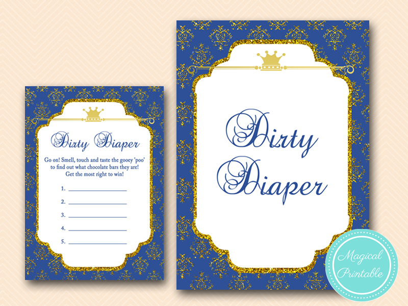 Royal Prince Baby Shower Game Pack Magical Printable