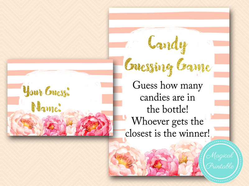 ... Candy Guessing Game In Bottle Peonies Pink Baby  ...