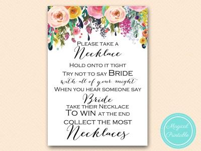 dont-say-bride-necklace-5x7 floral bridal shower