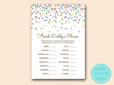 finish dads phrase game sprinkle baby shower tlc108