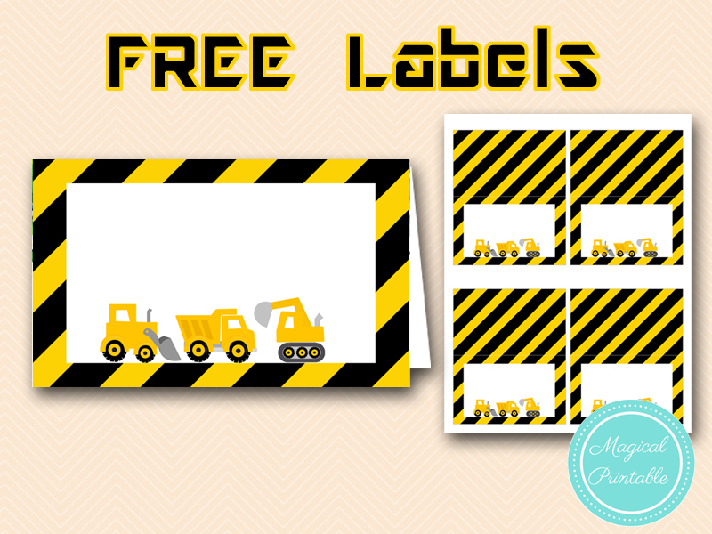 Effortless image regarding free printable construction party signs