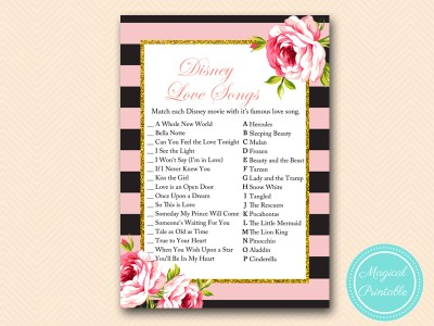 BS419-disney-love-song-match-pink-floral-bridal-shower-game