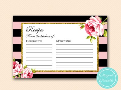 BS419-recipe-card-6x4-pink-floral-bridal-shower-game