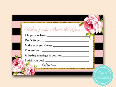 BS419-wishes-for-bride-groom-6x4-pink-floral-bridal-shower-game
