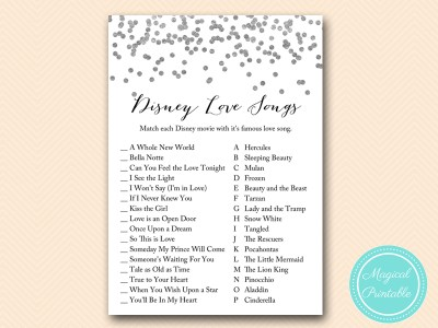 disney-love-songs-match-SILVER-CONFETTI-BRIDAL-SHOWER-GAMES