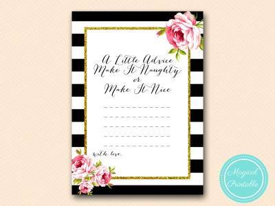 BS10B-advice-naughty-or-nice-black-stripes-pink-floral-bridal-shower-game