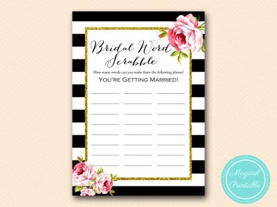 BS10B-scrabble-bridal-word-black-stripes-pink-floral-chic-bridal-shower-game