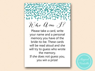 BS434-who-am-i-favorite-memory-lane-teal-bridal-shower-games