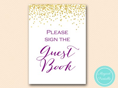 BS84-sign-guestbook-gold-purple-bridal-shower-decoration-sign