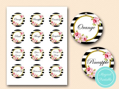 Mimosa Bar Sign, Bubbly Bar Sign, Mimosa Juice Tags -printables