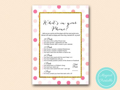 TLC430-P-whats-in-your-phone-baby-pink-gold-baby-shower-game-girl