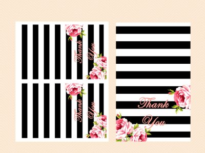 Thank-you-cards-black-stripes