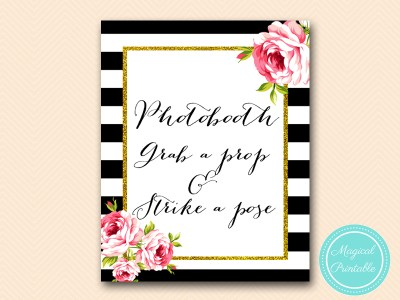 sign-photobooth-grab-a-prop-floral-black-stripes-bridal-shower