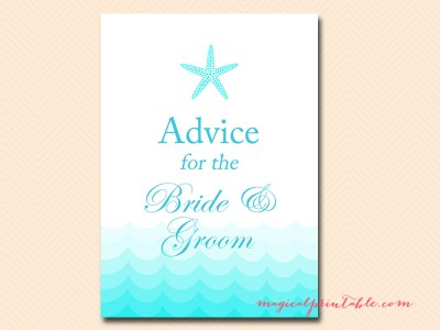 advice-for-the-bride-and-groom-sign-beach-bridal-shower