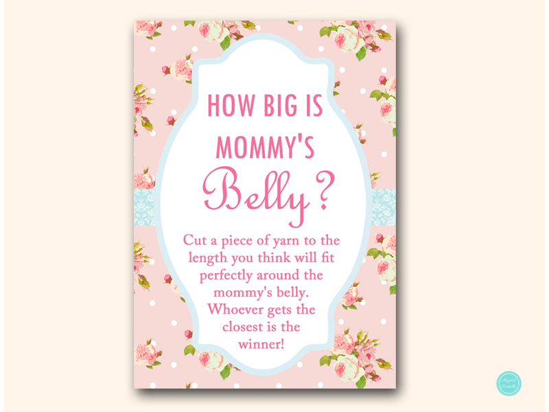 It's just an image of Punchy How Big is Mommy's Belly Printable