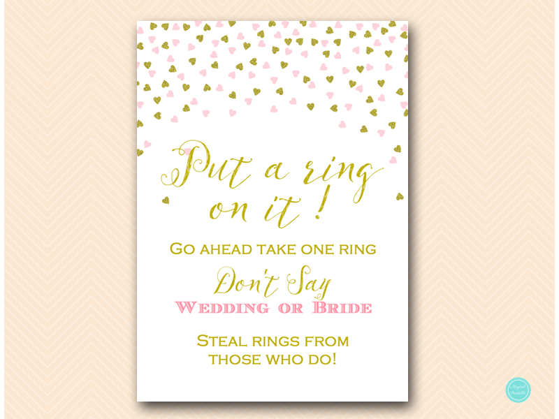 It is an image of Dynamite Put a Ring on It Bridal Shower Game Free Printable